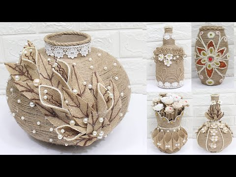 5 Jute flower vase | Home decorating ideas handmade | New 2020