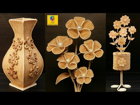 Jute Craft flower vase Showpiece Ideas | Home Decorating Ideas Handmade