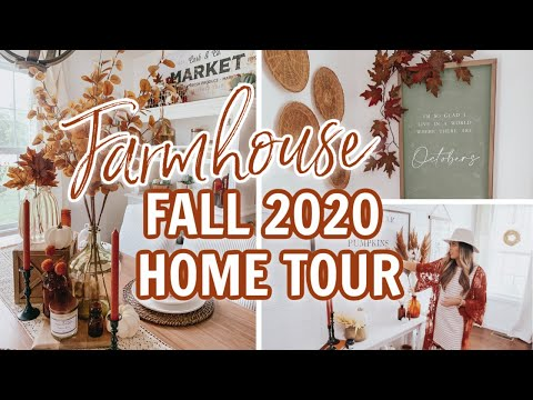 FALL 2020 HOME TOUR *WITH LINKS* | COZY FARMHOUSE FALL DECORATING IDEAS | NEW FALL DECORATE WITH ME