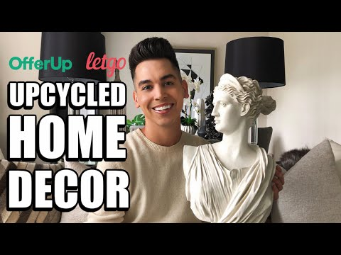 DIY UPCYCLED HOME DECOR IDEAS | EASY + AFFORDABLE | OFFER UP + LETGO FLIPS