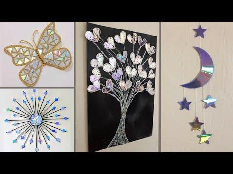 DIY ROOM DECOR! Decorations Ideas By Old CD || Weast CD Tutorial Home decor Ideas || Art Ideas