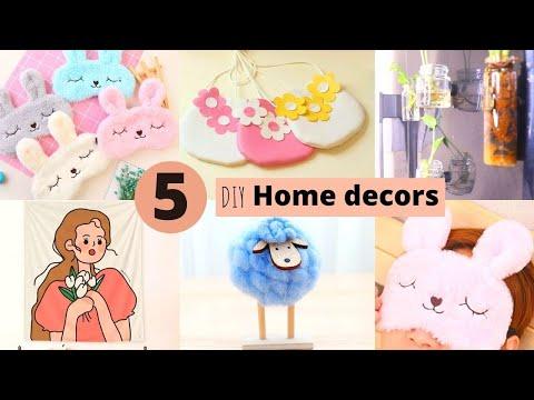 5 Handmade Home Decor Craft Items / DIY Home Decor Ideas