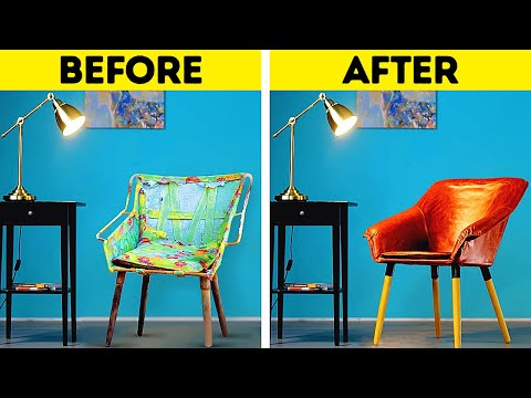 AWESOME FURNITURE RESTORATION HACKS || 5-Minute Home Decor Ideas And Repair Hacks!