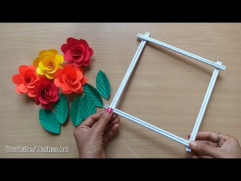 Paper Craft For Home Decoration | Wall Hanging Ideas | Paper Flower Wall Hanging | Paper Craft.