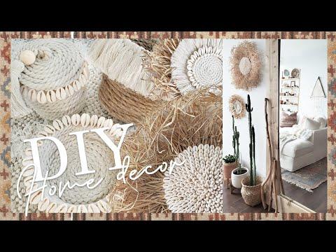 5 Boho DIY Home Decor / Wall hanging and baskets