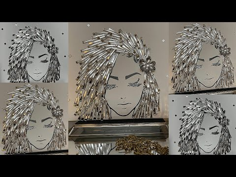 GLITZY GLAM CANVAS GIRL #2 | DOLLAR TREE & MICHAEL'S DIY HOME DECOR | DIY 3D WALL ART IDEAS