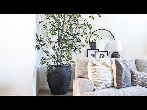 FAUX TREE DIY & How-to // Living Room Home Decor Idea