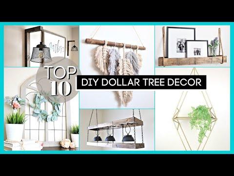 DIY Room Decor | Top 10 Dollar Tree DIYs | HIGH END Dollar Tree Decor | *2020*