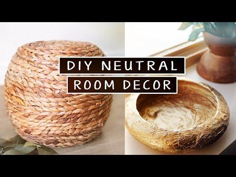Easy DIY Room Decor (neutral diy decor with thrifted items)