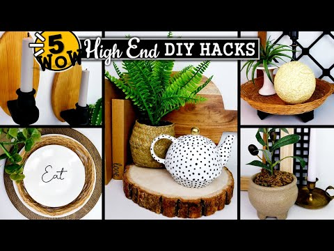 AMAZING HIGH END DIY HACKS you Have to TRY | 2021 Home Decor on a BUDGET