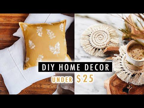 DIY HOME DECOR under $25  (Pillows, Macrame Coasters + MORE) | XO, MaCenna