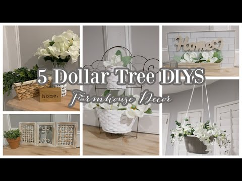 5 DOLLAR TREE FARMHOUSE DIYS | HIGH END DOLLAR TREE DIY HOME DECOR