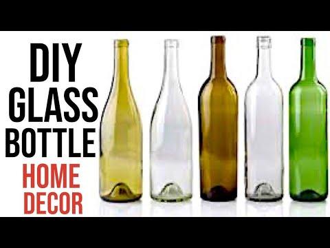 7 DIY Glass Bottle Decoration ideas | Home decorating ideas