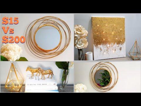 diy home decor | diy glam decor | round mirror frame| glitter painting | diy center piece|