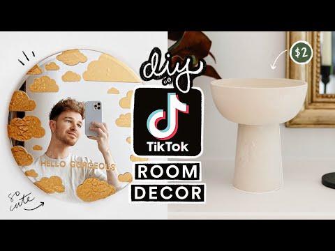 Recreating VIRAL TIK TOK DIY Projects + Room Decor ☁️ Aesthetic + Simple Decor Ideas!