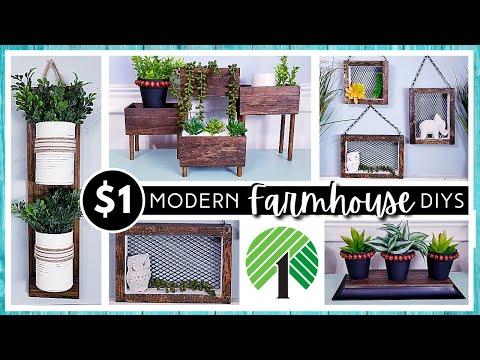 NEW DOLLAR TREE DIY HOME DECOR | Farmhouse Modern Boho Neutral | $1 Items & Wood for High END Look!