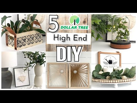 $1 HIGH END DOLLAR TREE DIY HOME DECOR | $1 Dollar Store Boho-Modern Farmhouse 2021 NEW