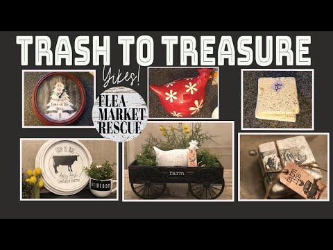 TRASH TO TREASURE FARMHOUSE DECOR PROJECTS-DIY HOME DECOR-THRIFT FLIPS