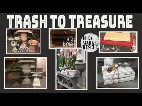 TRASH TO TREASURE DIY HOME DECOR PROJECTS-THRIFT FLIPS-DIY FARMHOUSE DECOR