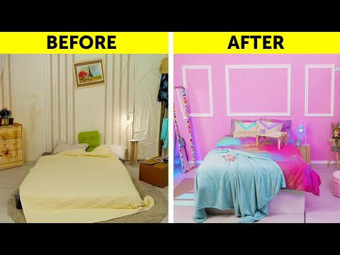 AWESOME HOME ORGANIZING AND DECORATING HACKS || DIY Ideas For Your Bedroom 🛏