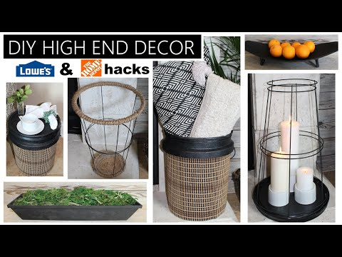 DIY HIGH END HOME DECOR   LOWES & HOME DEPOT HACKS Part 3!!