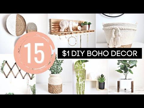 DIY Room Decor   15 AMAZING Dollar Tree DIY Boho Decor Ideas! *ANTHROPOLOGIE INSIPRED*