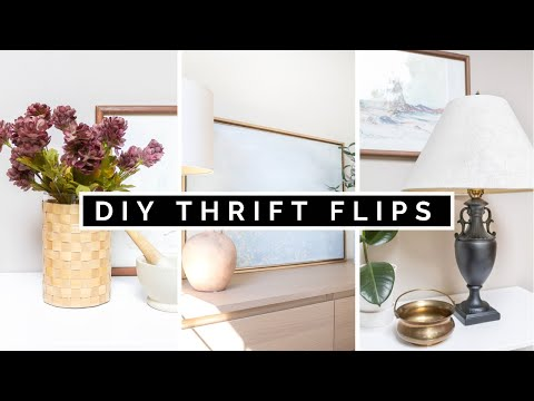 DIY THRIFT FLIPS   THRIFTED HOME DECOR ON A BUDGET