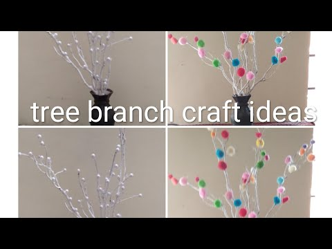 Tree branches decoration ideas|home decorating ideas|home made
