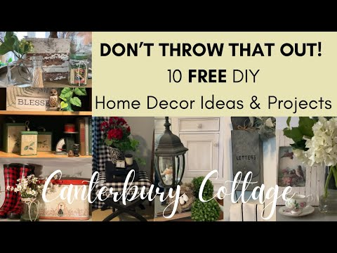10 FREE DIY Decor Ideas to Refresh Your Home (Using Trash and Things You Already Have)!