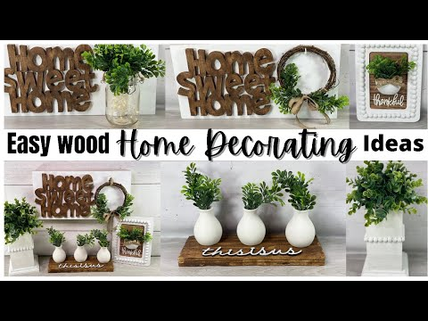 How to make Easy Wood Farmhouse Home Decor Ideas