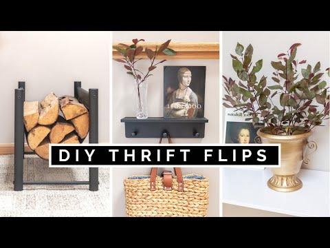 DIY THRIFT FLIP + TESTING SPRAY PAINTS | THRIFT STORE HOME DECOR TRANSFORMATIONS