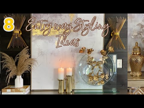 HOW TO STYLE/DECORATE/ENTRYWAY/HOME DECOR TRENDS/ INTERIOR DESIGN/ DECORATING IDEAS/MODERN HOUSE
