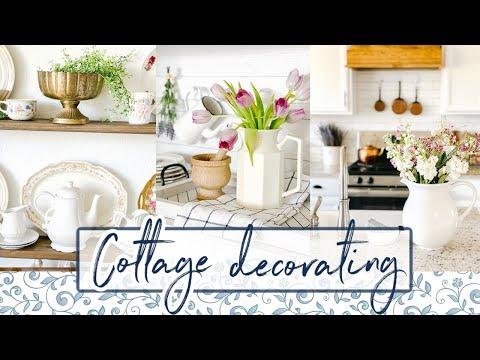 COTTAGE STYLE CLEAN + DECORATE | ENGLISH COTTAGE DECOR | FARMHOUSE DECORATING IDEAS