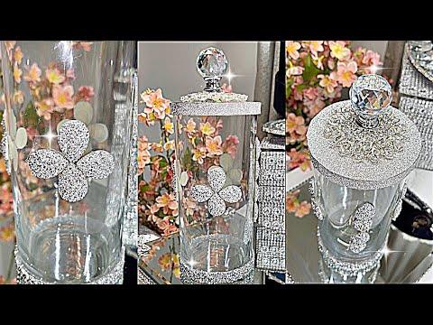 DIY ROOM DECOR GLASS CRYSTAL STORAGE VASE HOME DECORATING IDEAS DIY