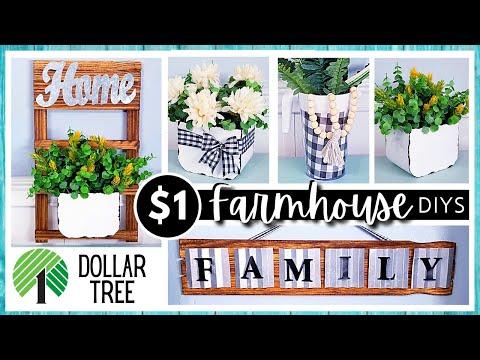 *NEW* DOLLAR TREE DIYS   Farmhouse Home Decor   Paint Stick DIY   Create Enamel & Metal Finish Easy