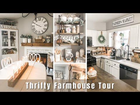 Spring Farmhouse Home Tour   Thrifted Home Décor Ideas   Farmhouse Decorating Ideas 2021