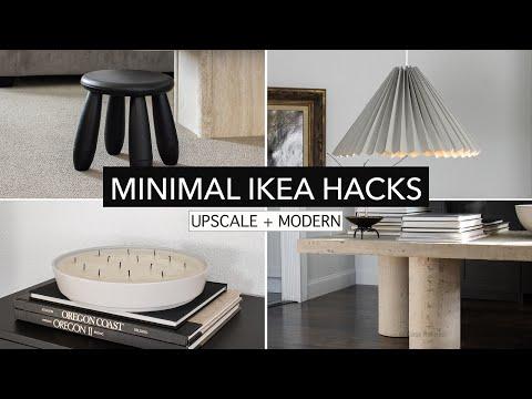 Modern IKEA Hacks – upscale and minimalist home decor DIY projects