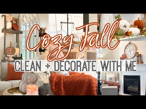 *NEW*  COZY FALL CLEAN + DECORATE WITH ME 2021   FARMHOUSE FALL DECOR IDEAS