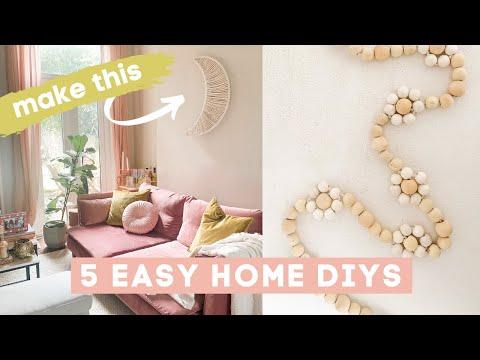 5 DIY Home Decor ideas for 2021! Boho and Minimal home DIYs