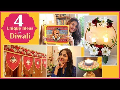 4 Festive Decor Ideas | Easy Diwali Decorations | Diwali DIY Home Decor Ft. Bzzy Bee|Scarlet Strokes